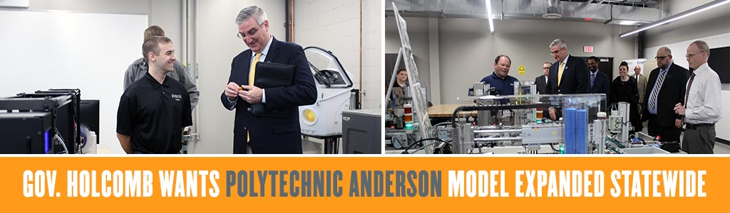 Gov. Holcomb wants Polytechnic Anderson model expanded statewide