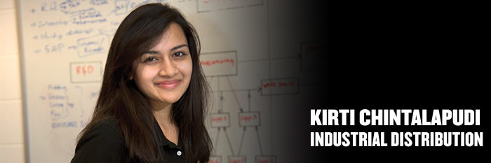 Meet Kirti Chintalapudi, industrial distribution major
