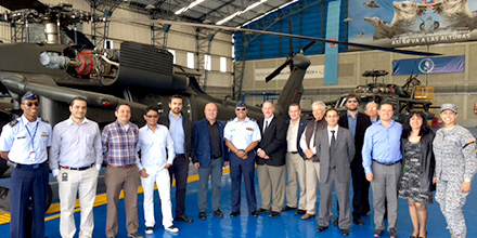 The Aviation Alliance team at the Blackhawk Maintenance Hangar, Rio Negro Air Base.