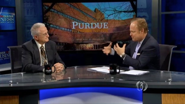Jeff Evans and Gerry Dick on Inside Indiana Business Television