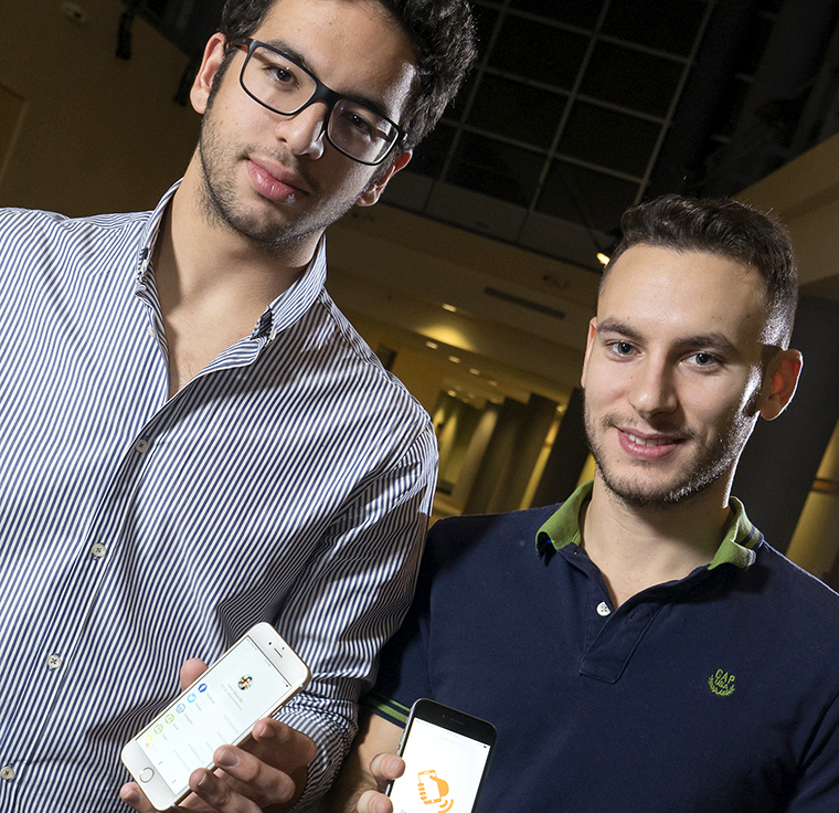 Yarkin Sakucoglu, CEO and a sophomore in Purdue Polytechnic Institute, and Alihan Ozbayrak, a senior in computer science and civil engineering.