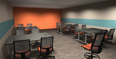 3D rendering of our new Computer Graphics Studio