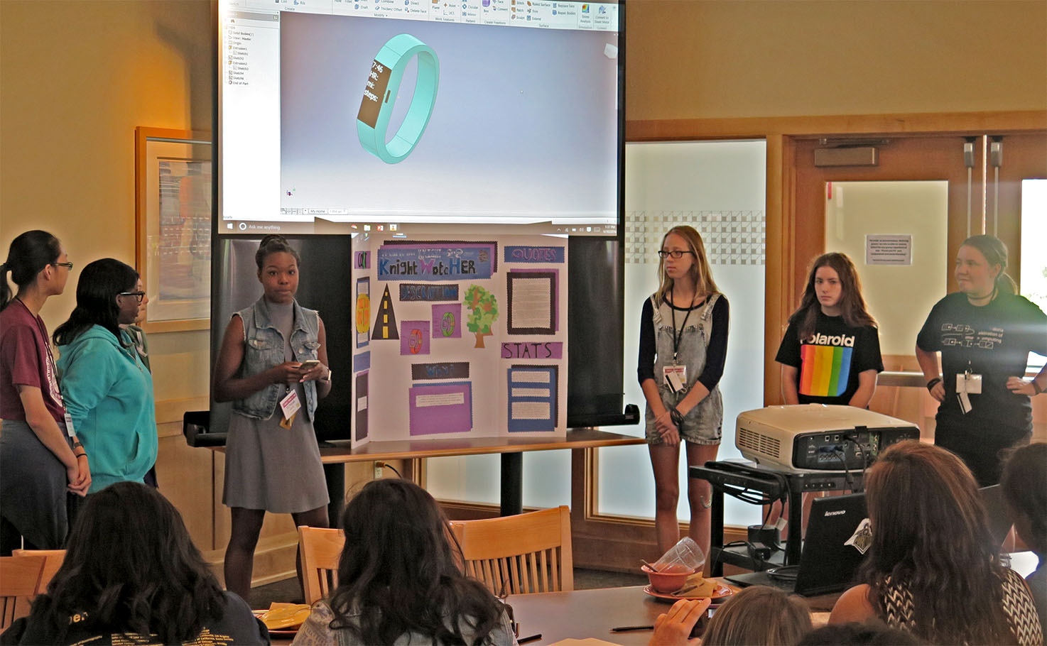TEAM participants present their research, a project added by Danita Dolly, assistant director of retention and diversity, to provde focus and purpose to the experience.