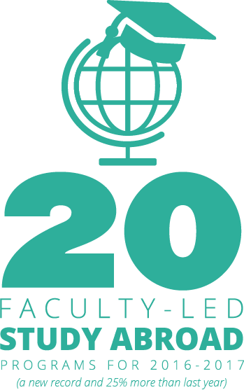 20 faculty-led Study Abroad programs for 2016-2017