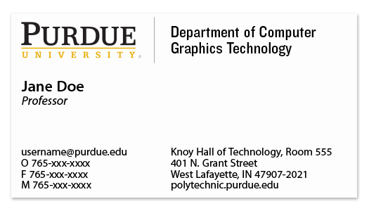 Business cards purdue polytechnic institute academic business card example colourmoves
