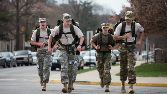 The Purdue Army ROTC Team 1 (pictured) consisting of Peter Clark, Ty Lanterman, Matthew Hinkley, and Max Leonard, took home the first place team award.