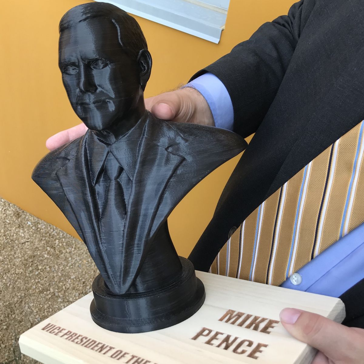 3-D printed bust of Mike Pence