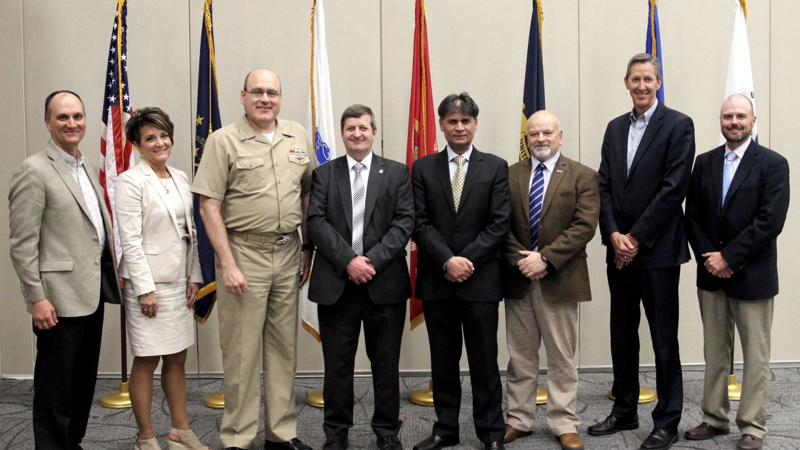 NSWC Crane formally announced its Expeditionary Warfare Systems Engineering Master's Degree program at a reception on Thursday, May 17th, at the WestGate Academy Conference and Training Center in Crane, Indiana. (Photo by NSWC Crane Corporate Communications)