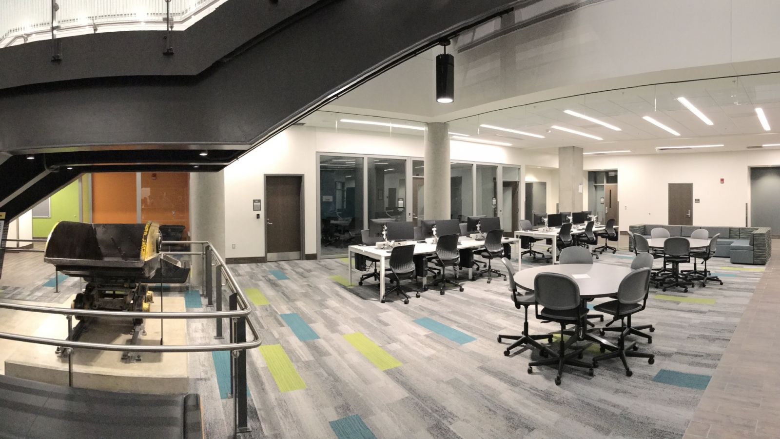 A study space in the Wilmeth Active Learning Center
