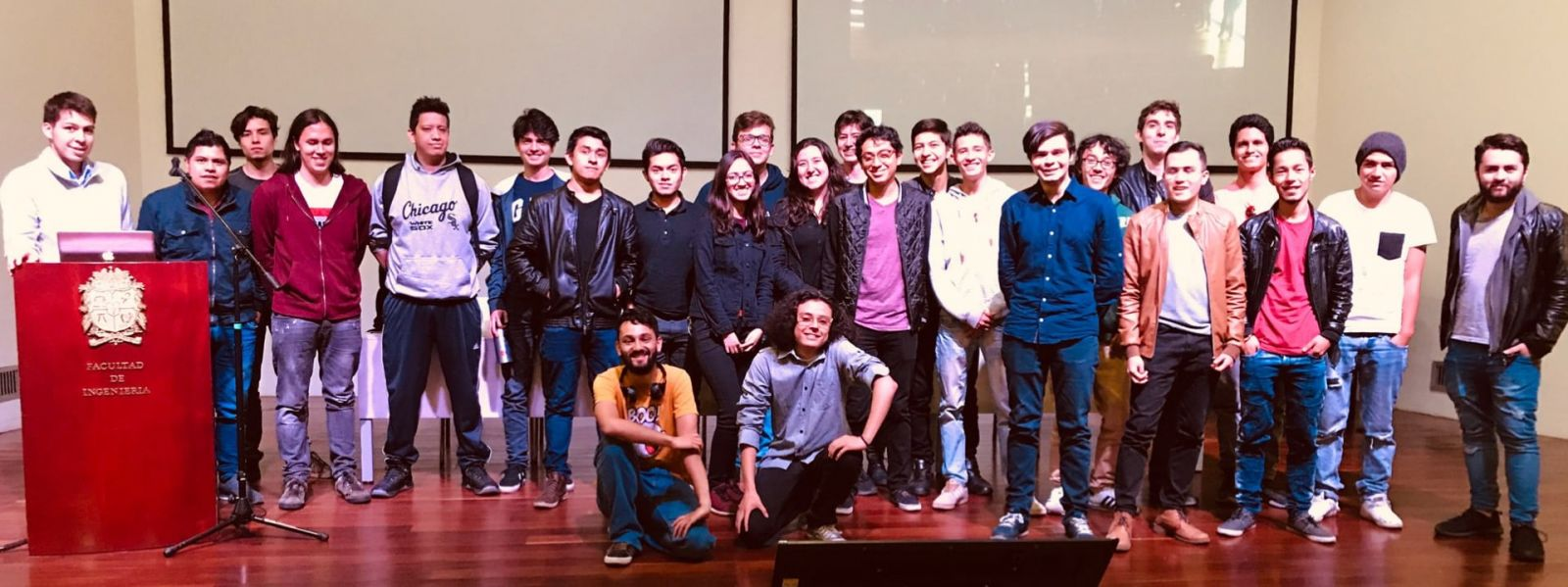UNAL students pose at the Purdue RCODI Spring 2019 IronHacks awards ceremony