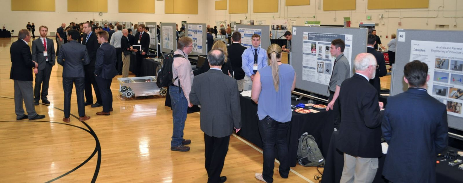 Purdue Polytechnic's Tech Expo is both a business-to-business trade show and presentations of students' capstone projects