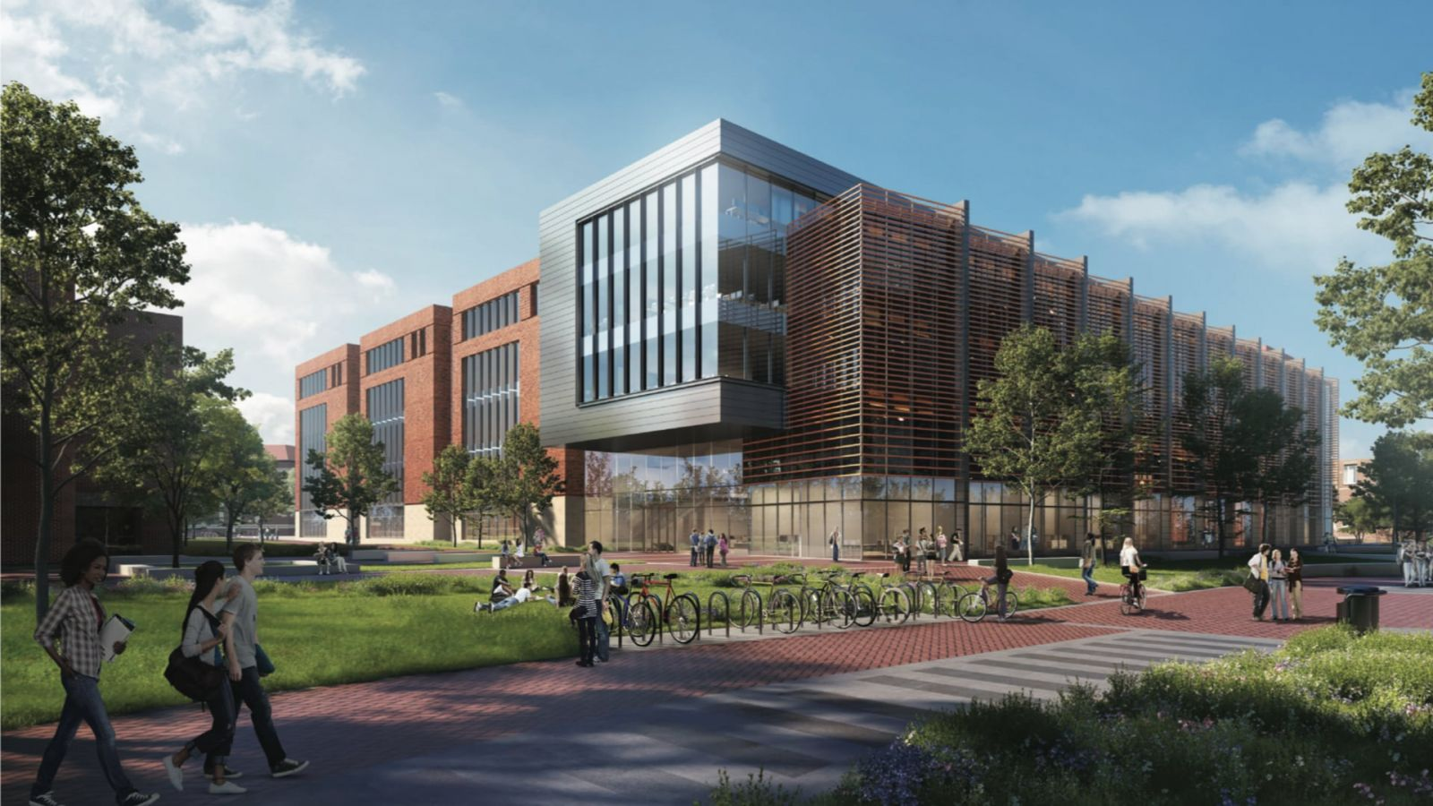 The southwest corner of the Engineering and Polytechnic Gateway Complex. (Rendering is subject to change.)