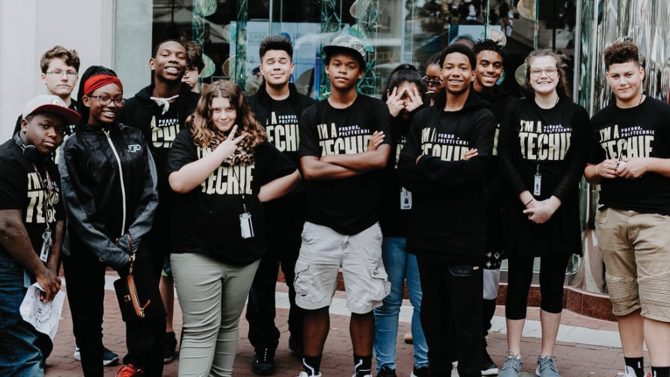 Purdue Polytechnic High School students
