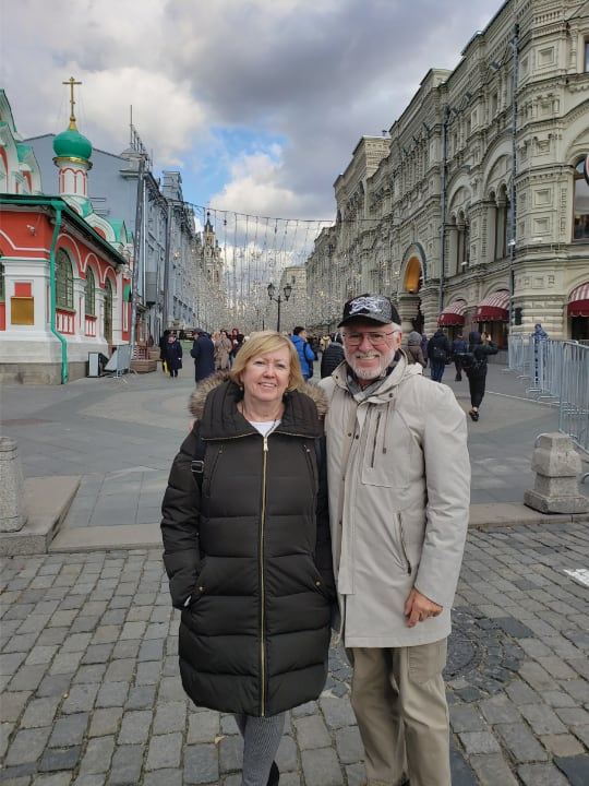 M. Terri and Phil Sanger in Kazan, Republic of Tatarson, Russia