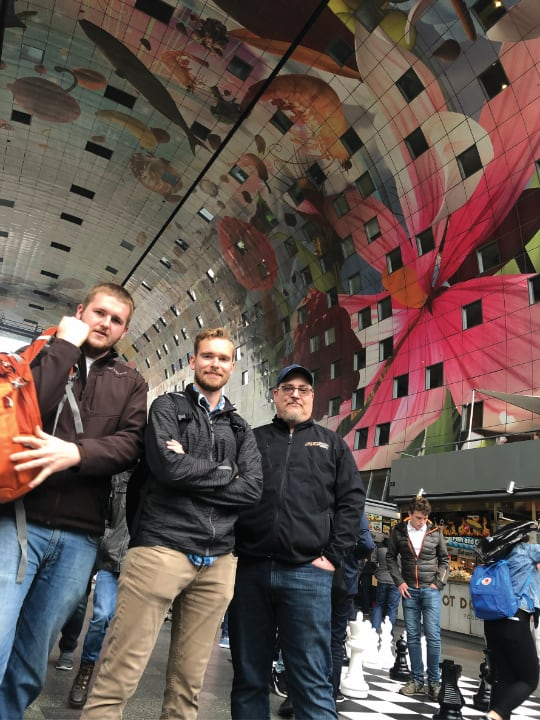 Purdue Polytechnic Vincennes students on a Study Abroad trip