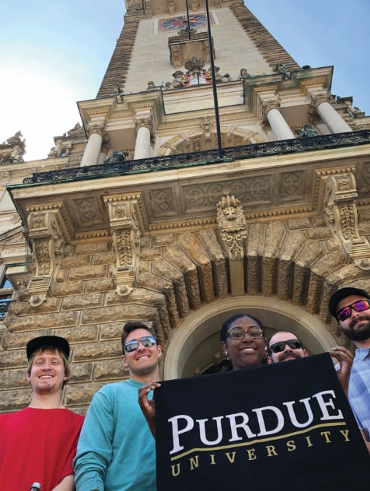 Purdue Polytechnic Vincennes students on a Study Abroad trip to Europe