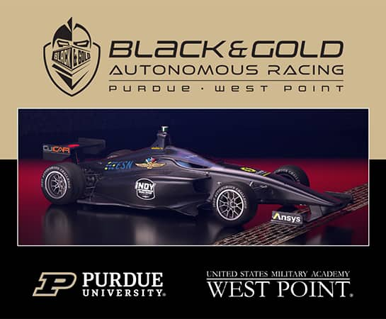 Students and faculty from Purdue University and the U.S. Military Academy at West Point are working together on a team entry for the Indy Autonomous Challenge. (Image provided)