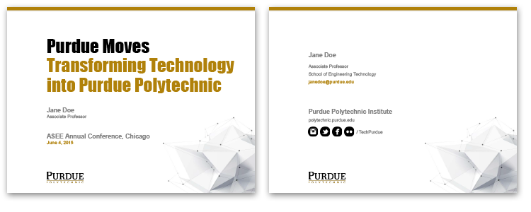 slide templates - purdue polytechnic institute, Presentation templates