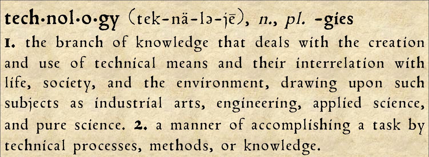 definition of  u0026quot technology u0026quot