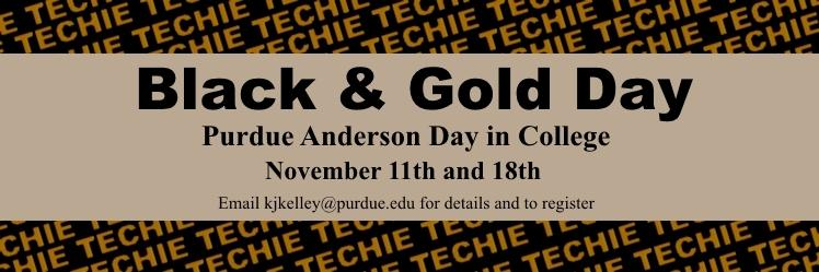 Anderson Day in College Black and Gold Day