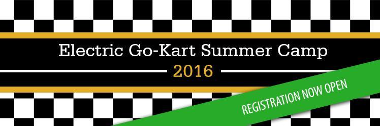 Electric go-kart summer camp 2016