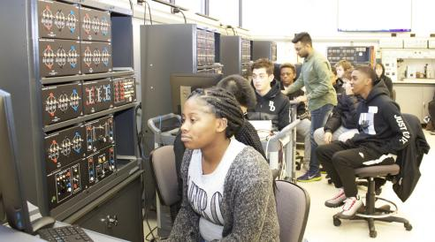 Students learn about photovoltaic system design during CLAIMiT camp