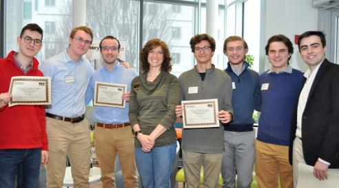 "The winning team from Purdue Polytechnic's ""Design Innovation Challenge: Fight Human Trafficking in the Americas"""