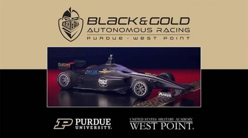 Students and faculty from Purdue University and the U.S. Military Academy at West Point are working together on a team entry for the Indy Autonomous Challenge.