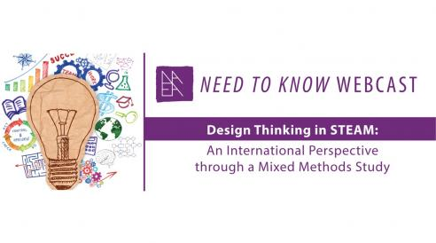 "NAEA Need to Know Webcast ""Design Thinking in STEAM: An International Perspective through a Mixed Methods Study"""