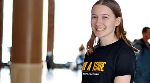 Scarbeck's classes help her succeed in campus activities