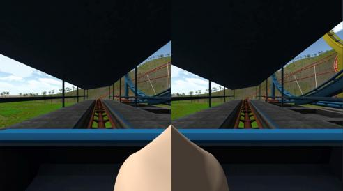 Research suggests including a virtual human nose in VR scenes reduces motion sickness (Photo courtesy David Whittinghill)