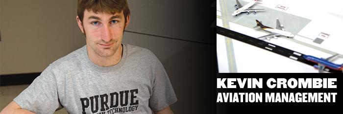 Meet Kevin Crombie, aviation management major