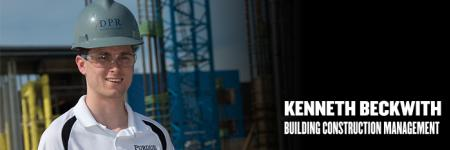 Meet Kenneth Beckwith, building construction management major