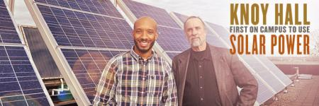 Knoy Hall first on campus to use solar power
